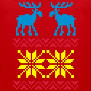 Moose Pattern Christmas Sweater Hoodies & Sweatshirts - Men's Premium Tank Top