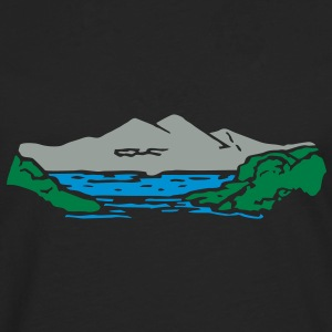 Alm mountain lake mountains t- shirt, tshirt Hoodies & Sweatshirts - Men's Premium Longsleeve Shirt