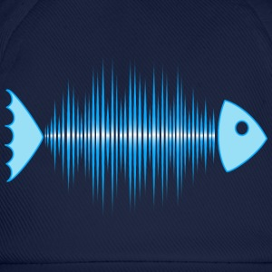 fish skeleton - music wave - DD blue Tee shirts - Casquette classique