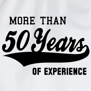 MORE THAN 50 Years OF EXPERIENCE T-Shirt BW - Mochila saco