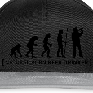evolution_beer_drinker T-Shirts - Snapback Cap