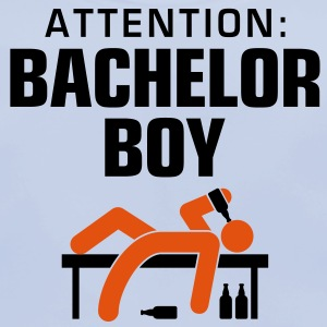 Attention Bachelor Boy 3 (2c)++ Børne T-shirts - Baby økologisk hagesmæk