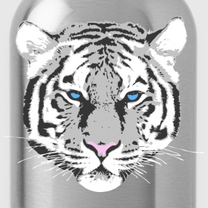 White Tiger Kinder T-Shirts - Trinkflasche