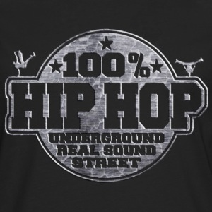 100% hip hop underground real sound street T-Shirts - Men's Premium Longsleeve Shirt
