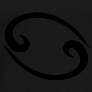 Cancer 2 glyph Signs of the Zodiac symbol Bags  - Men's Premium T-Shirt