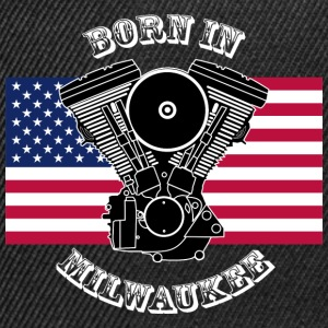born_in_milwaukee_3_whitety T-Shirts - Snapback Cap
