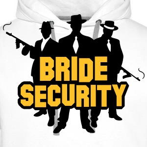 Bride Security 1 (2c)++ T-skjorter - Premium hettegenser for menn