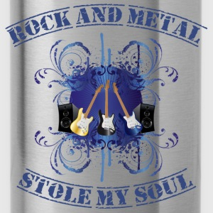 Rock and Metal stole my soul - blue Sweatshirts - Drikkeflaske