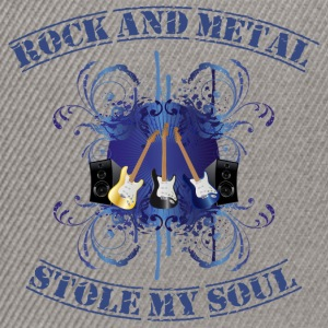 Rock and Metal stole my soul - blue Sweaters - Snapback cap