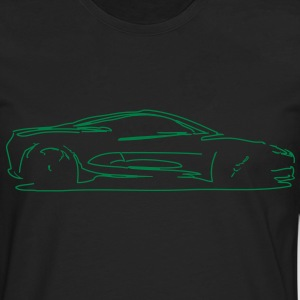 Car Sketch - Men's Premium Longsleeve Shirt