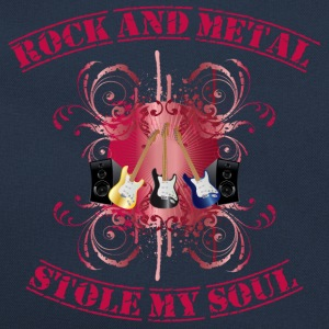 Rock and Metal stole my soul - red Tröjor - Retroväska