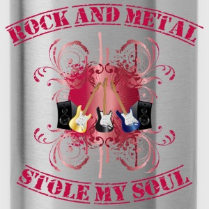 Rock and Metal stole my soul - red Sudadera - Cantimplora