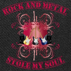 Rock and Metal stole my soul - red Felpe - Snapback Cap