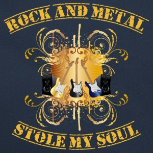 Rock and Metal stole my soul - yellow Tröjor - Retroväska