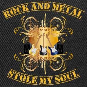 Rock and Metal stole my soul - yellow Sweaters - Snapback cap