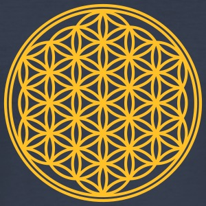 Vector - Flower of Life - 01, 1c, sacred geometry, - Men's Slim Fit T-Shirt