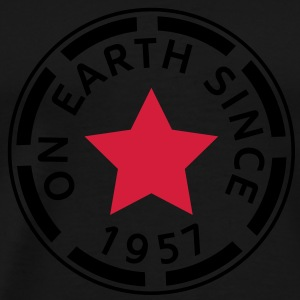 on earth since 1957 (sv) Tröjor - Premium-T-shirt herr