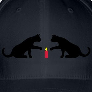 Cat candle Hoodies & Sweatshirts - Flexfit Baseball Cap