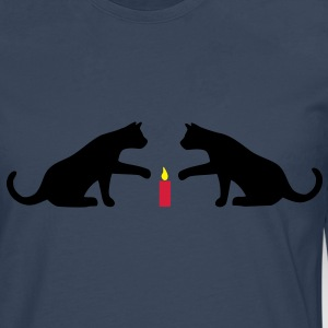 Cat candle Hoodies & Sweatshirts - Men's Premium Longsleeve Shirt