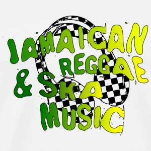jamaican_music Buttons - Men's Premium T-Shirt