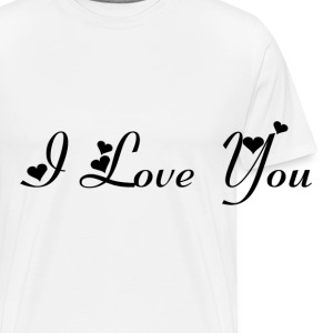 Casquette Flexfit I love you noir - T-shirt Premium Homme