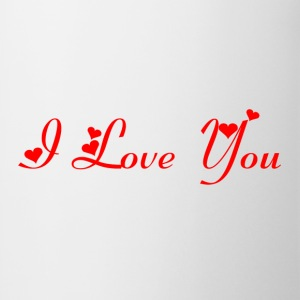 Casquette Flexfit I love you Rouge - Tasse