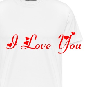 Casquette Flexfit I love you Rouge - T-shirt Premium Homme