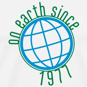 Birthday Design - (thin) on earth since 1977 (no) Gensere - Premium T-skjorte for menn