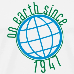 Birthday Design - (thin) on earth since 1947 (sv) Tröjor - Premium-T-shirt herr