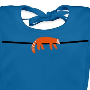 red panda Kids' Shirts - Baby Organic Bib