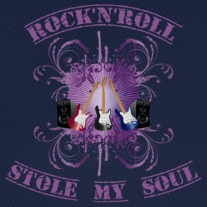 Rock'n'Roll stole my soul - purple T-shirt - Cappello con visiera