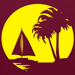 Sail boat and Palm Trees - Contrast Colour Hoodie