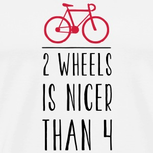 FIXED GEAR: 2 WHEELS IS NICER Taschen - Männer Premium T-Shirt