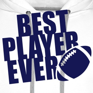 BEST FOOTBALL / RUGBY PLAYER EVER T-Shirt BW - Sudadera con capucha premium para hombre