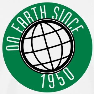 Birthday Design - On Earth since 1950 (sv) Tröjor - Premium-T-shirt herr