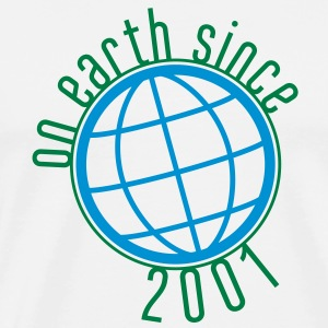 Birthday Design - (thin) on earth since 2001 (sv) Tröjor - Premium-T-shirt herr