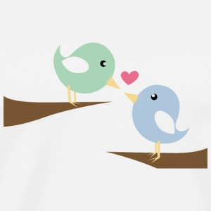 Birds in Love - Männer Premium T-Shirt