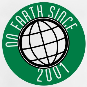 Birthday Design - On Earth since 2001 (sv) Barn-T-shirts - Baby-T-shirt