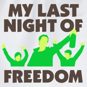 My Last Night Of Freedom 1 (dd)++ T-shirt - Sacca sportiva