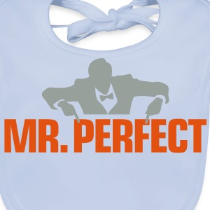 Mr Perfect 3 (2c)++ Kids' Shirts - Baby Organic Bib
