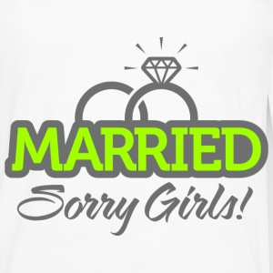 Married Sorry Girls 2 (dd)++ Sweaters - Mannen Premium shirt met lange mouwen