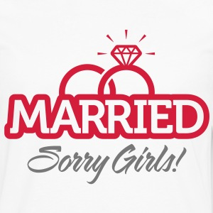 Married Sorry Girls 2 (2c)++ Kookschorten - Mannen Premium shirt met lange mouwen