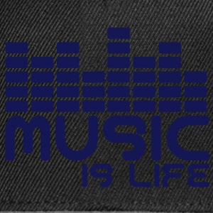 Music is life with equaliser  Sweaters - Snapback cap