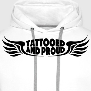 Tattooed and Proud - Wings T-Shirts - Männer Premium Hoodie