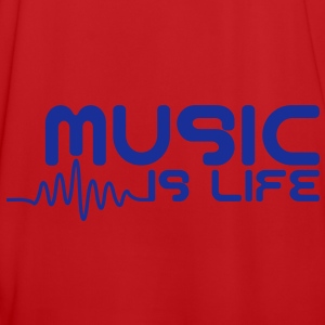 Music is life with pulse Tassen - Mannen voetbal shirt