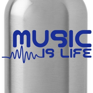 Music is life with pulse Caps & Mützen - Trinkflasche