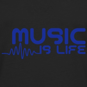 Music is life with pulse Caps & Mützen - Männer Premium Langarmshirt