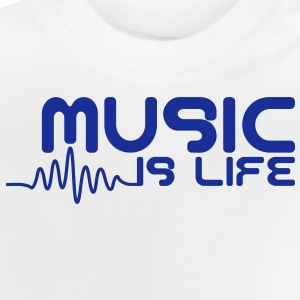 Music is life with pulse Børne sweatshirts - Baby T-shirt