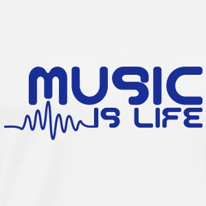 Music is life with pulse Pullover & Hoodies - Männer Premium T-Shirt