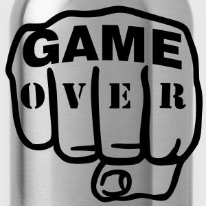 Game over | Fist | Faust T-Shirts - Cantimplora